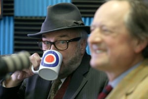 George Galloway (left) and Jamie Blackett at the All for Unity launch today.
