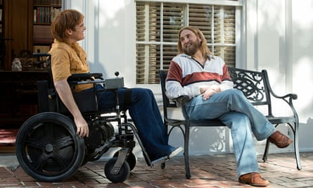 Joaquin Phoenix (left) and Jonah Hill in Don't Worry, He Won't Get Far on Foot.