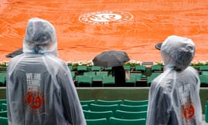 No play was possible at the French Open on Monday due to heavy rain at Roland Garros