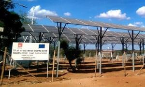 Solar panels in Dadaab refugee camp