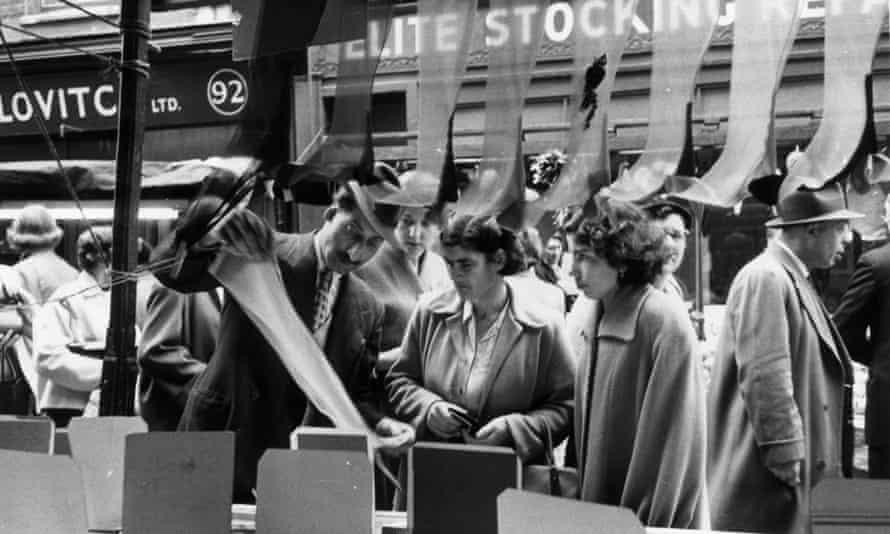 Shoppers in Berwick Street Market in London's Soho, 1955.
