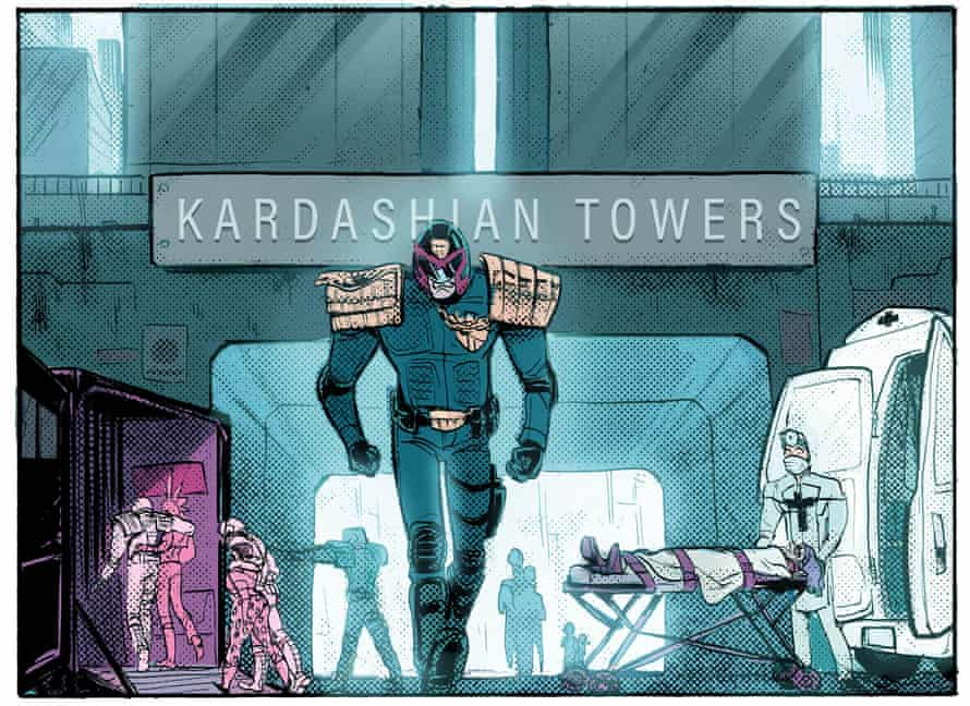 From the 2000AD Sci-fi special, June 2018. The full line-up of stories comprises Judge Dredd by Emma Beeby and Babs Tarr; Tyranny Rex by Katy Rex and Liana Kangas; Rogue Trooper by Alex De Campi and Sam Beck; Judge Death by Leah Moore and Xulia Vicente; Anderson, Psi-Division by Maura McHugh and Emma Vieceli; Future Shock: Delivery by Tillie Walden; DeMarco, P.I. by Laura Bailey and Dani; and Terror Tale: The Hockey Sticks of Hell by Olivia Hicks and Abigail Bulmer.