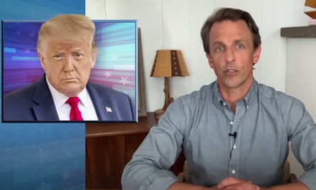 """Seth Meyers on Trump finally wearing a face mask in public: """"Who cares? You're four months late. It's like someone saying, 'Should we not do a live-action Cats? Now.'"""""""