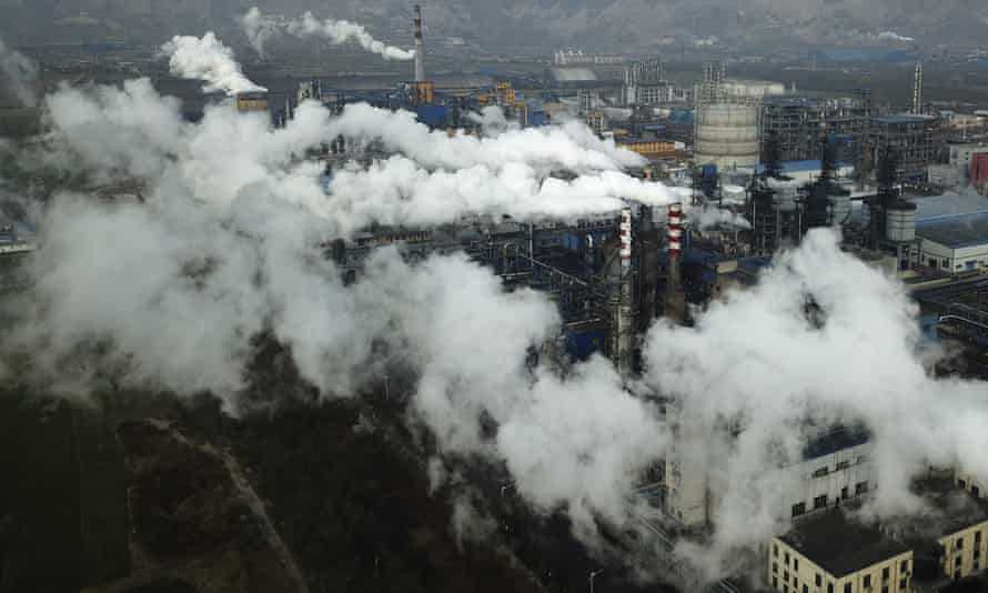 A coal processing plant in Hejin in central China's Shanxi Province. Chinese President Xi Jinping says his country will aim to stop pumping additional carbon dioxide, the main global warming gas, into the atmosphere by 2060.