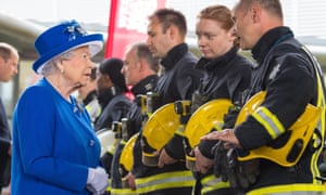 The queen meets firefighters who responded to the Grenfell Tower fire