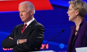 Biden has slipped in Iowa against Elizabeth Warren, the frontrunner in the early caucus state.
