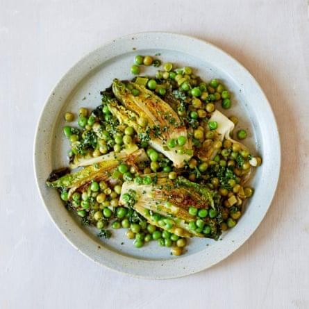 Anna Tobias' braised peas and lettuce.