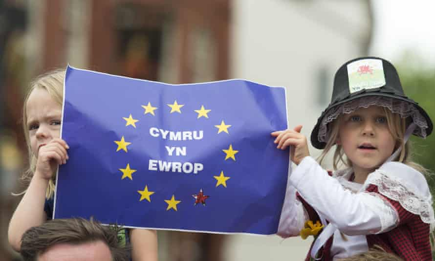 Anti-Brexit rally in Cardiff in June.
