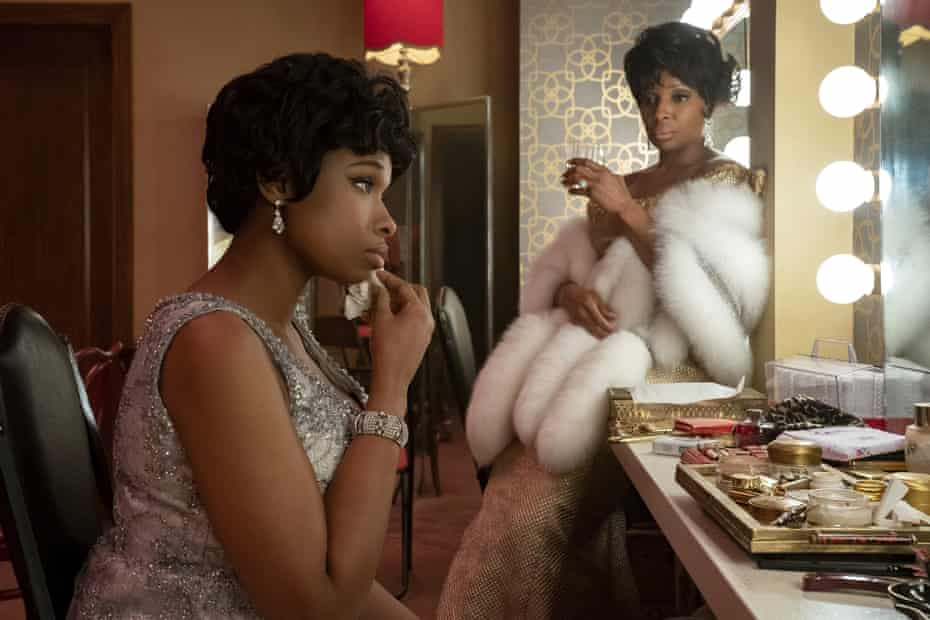Jennifer Hudson, left, as Aretha Franklin with Mary J Blige as Dinah Washington in Respect.