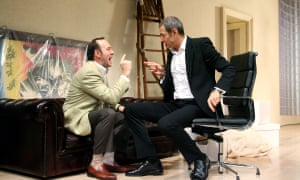 Arguing the point: Kevin Spacey as Charlie Fox and Jeff Goldblum as Bobby Gould in Speed-The-Plow at London's Old Vic in 2008.