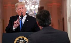 Donald Trump interrupts Jim Acosta, November 2018.