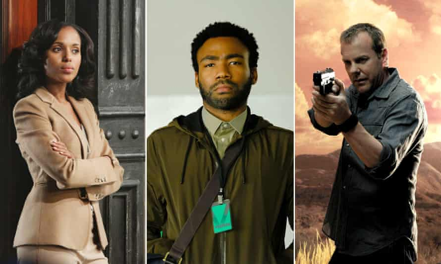Kerry Washington in Scandal, Donald Glover in Atlanta and Kiefer Sutherland in 24.