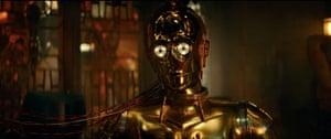 c3p0. Screengrabs from Star Wars Rise of Skywalker final trailer
