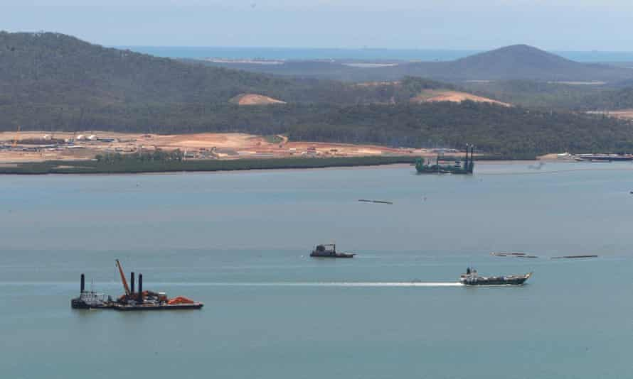 Ships off the port of Gladstone, Queensland.