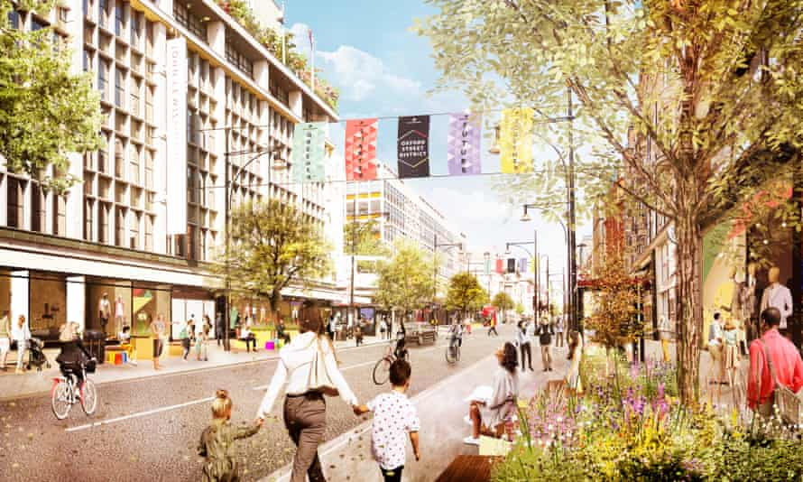 Work is underway which will make more space for people, add trees and greenery, introduce seating and cycle parking and create pocket parks throughout the Oxford Street District.