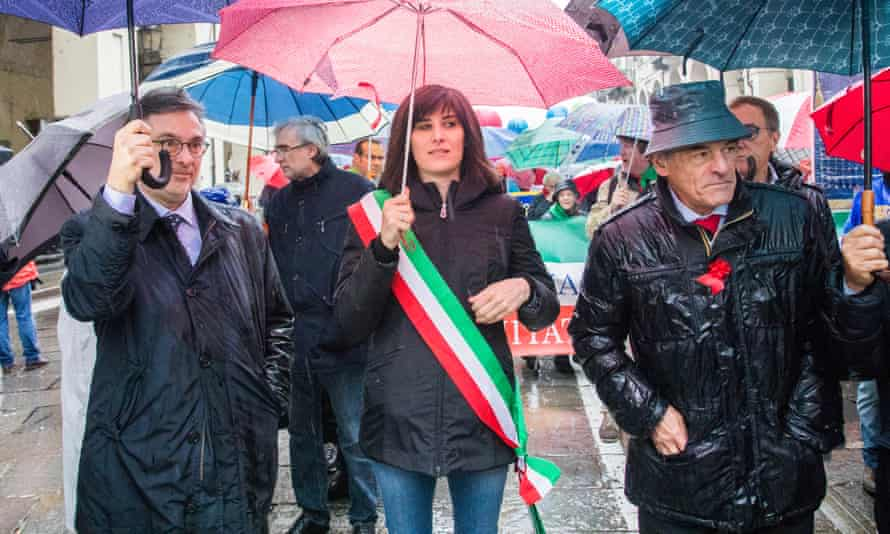 Appendino at a Workers' Day parade in Turin last year.
