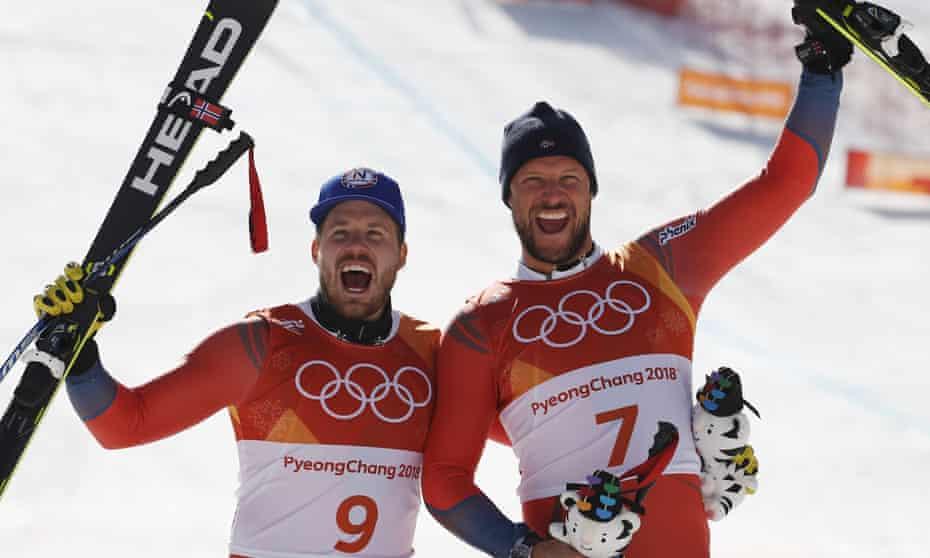 Kjetil Jansrud and Aksel Lund Svindal