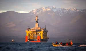 The Transocean Polar Pioneer, a semi-submersible drilling unit leased by Shell, was used to explore Arctic deposits.