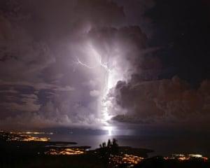 "A flash of ""Catatumbo Lightning"" in Zulia, Venezuela. The Catatumbo lightning occurs only over the mouth of the Catatumbo river."