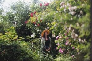 Victoria Harvey in a wildflower meadow