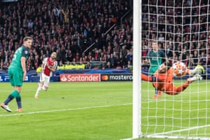 Hakim Ziyech lashes in Ajax's second to leave Tottenham needing a miracle.