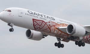 My 17 hour qantas odyssey in kangaroo pyjamas world news the the boeing 787 9 dreamliner takes off from perth airport stopboris Images