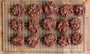 Tom Hunt's no-egg salted chocolate rye cookies.