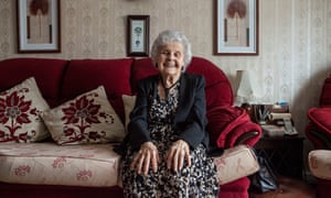 Joan Gray at her home in Chelmsford, where she has lived all her life. Joan shares a birthday with the Queen Elizabeth II on April 21. They will both be 90.