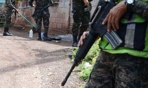 Honduras' Military Police soldiers
