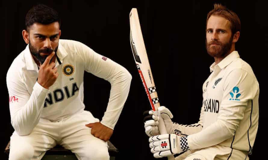The India captain Virat Kohli (left) and his New Zealand counterpart Kane Williamson of New Zealand will lead their teams in the World Test Championship final.