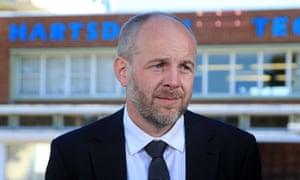 Matthew Tate, headteacher at Hartsdown academy