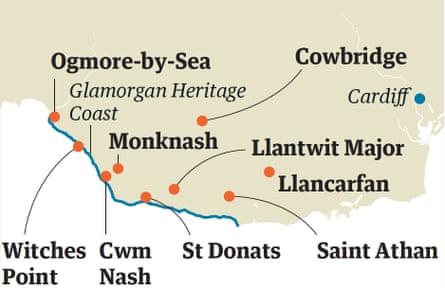 Glamorgan coast map