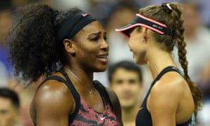 Serena Williams consoles her latest victim, Vitalia Diatchenko, at the net after the Russian retired through injury on the opening night of action at Flushing Meadows.