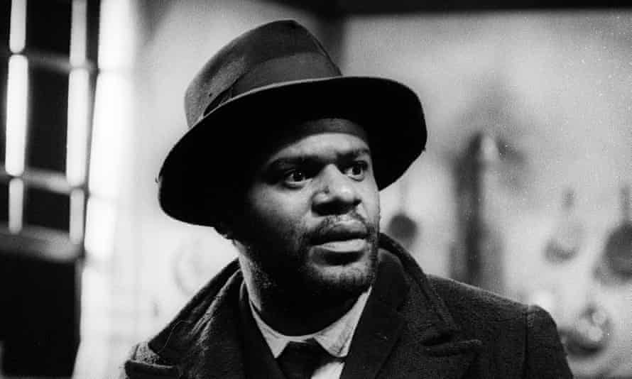 Tony Armatrading as Herald Loomis in Joe Turner's Come And Gone by August Wilson at the Tricycle theatre, London, in 1990.