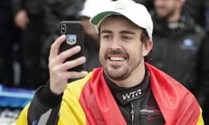 Fernando Alonso was at the Daytona 24 Hours alongside Wayne Taylor Racing teammates Kamui Kobayashi, Renger van der Zande and Jordan Taylor.
