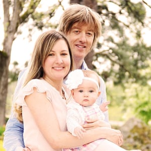Katy Garlington and her British husband Dominic James, with their daughter Madeleine.