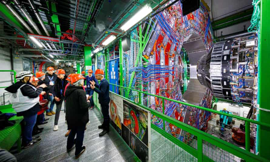 Maintenance works on the Large Hadron Collider in February last year.