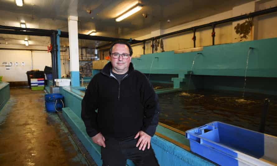 Fernando Carvalho from Aqua-Mar, fish merchants, Victoria Pier, St Helier, Jersey.