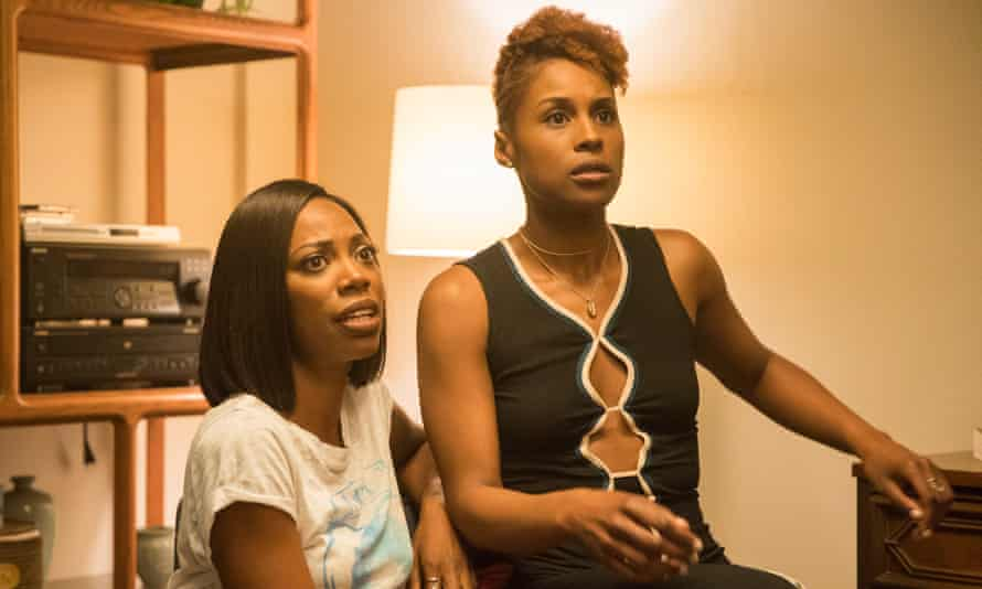 Orji with Issa Rae in Insecure.