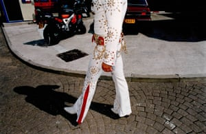 A legend in tight pants, 1995  - Elvis impersonator, London