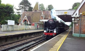 One for the steam … Box Hill and Westhumble station, Surrey.