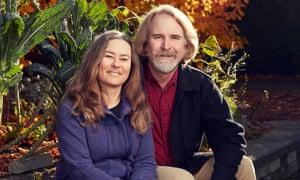 Anne Biklé and David Montgomery in their Seattle garden.