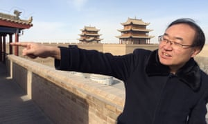 Zhang Xiaodong runs a Great Wall museum at the westernmost tip of China's Ming dynasty wall in Gansu province.