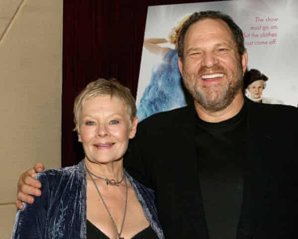 Judi Dench and Harvey Weinstein at a screening in New York in 2005