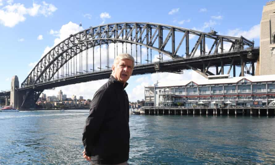 Arsène Wenger takes a stroll in Sydney, where Arsenal are kicking off their pre-season preparations.