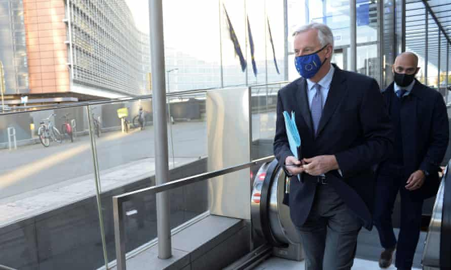 Michel Barnier, the EU's chief Brexit negotiator, arriving at a meeting in Brussels last week