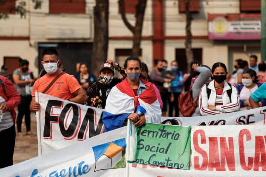 Farmers and indigenous people march, Asuncion, Paraguay