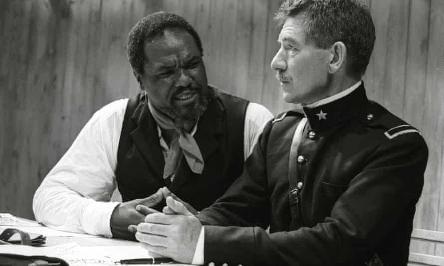 as Iago with Willard White in Othello for the RSC, 1989.