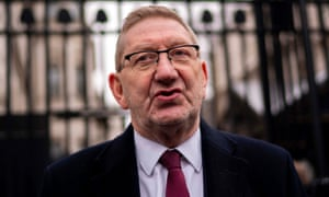Len McCluskey addresses the media after a meeting with British Prime Minister Theresa May (not pictured) at 10 Downing Street in London, Britain, 24 January 2019.