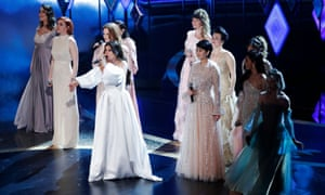 Idina Menzel, Aurora and nine performers from around the world perform Into the Unknown from Frozen 2.